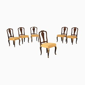 Vintage Maple and Mahogany Dining Chairs, Set of 6