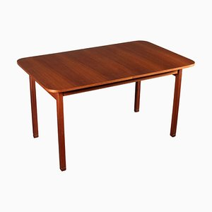 Teak Veneer Extending Dining Table, 1960s