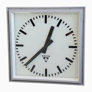 Reloj de estación vintage grande de Pragotron, años 50