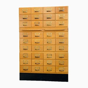 Vintage Oak Filing Cabinet, 1950s