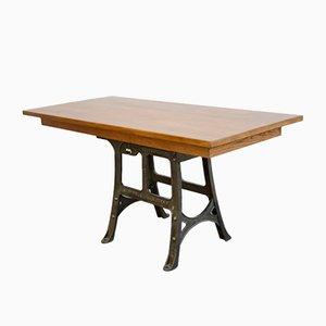 Grande Table de Travail Industrielle Ancienne de Woods & Co, années 10