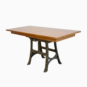 Large Antique Industrial Work Table from Woods & Co, 1910s
