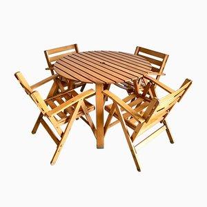 Tavolo da giardino con sedie di Fratelli Reguitti, anni '60