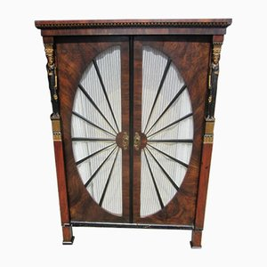 Antique Empire Style Walnut Cabinet