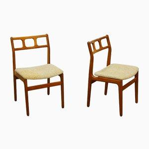 Chaises de Salle à Manger Scandinaves en Teck, années 60, Set de 2