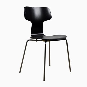 Mid-Century Model 3103 Hammer Dining Chairs by Arne Jacobsen for Fritz Hansen, Set of 4