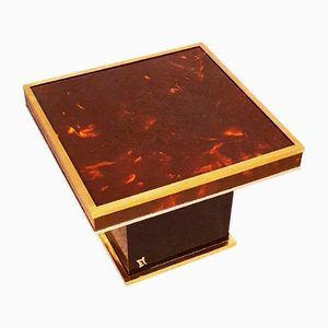 Small Lacquered Coffee Table by Jean Claude Mahey, 1970s