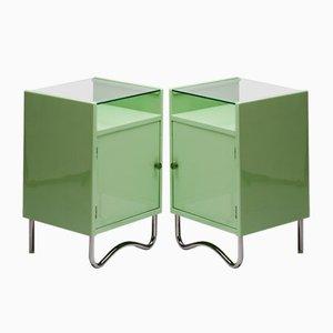 Tables de Chevet Bauhaus Vintage par H. Kučerová Záveská pour Hynek Gottwald, Set de 2