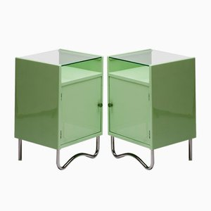 Vintage Bauhaus Nightstands by H. Kučerová Záveská for Hynek Gottwald, Set of 2