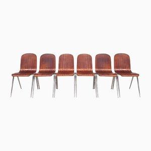 Stapelbare Esszimmerstühle von Morris of Glasgow, 1960er, 6er Set