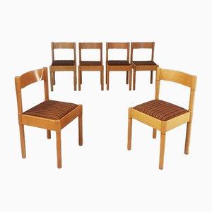 Italienische Esszimmerstühle von Vico, 1970er, 6er Set