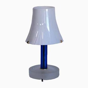 Vintage Blue & White Table Lamp by Carlo Nason for V. Nason & C., 1992