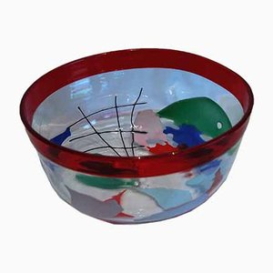Vintage Abstract Bowl by Carlo Nason for V. Nason & C., 1988