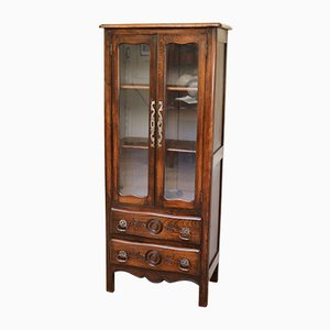French Beech Display Cabinet, 1920s