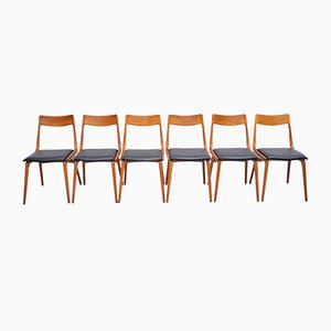 Boomerang Esszimmerstühle aus Teak von Alfred Christensen für Slagelse Møbelværk, 1960er, 6er Set