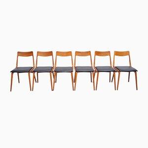 Chaises de Salle à Manger Boomerang en Teck par Alfred Christensen pour Slagelse Møbelværk, années 60, Set de 6