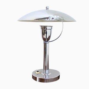 Lámpara de mesa Bauhaus cromada, años 30