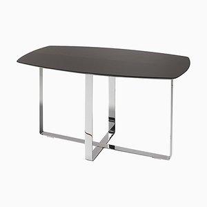 Tavolino rettangolare con base in ferro di Jacobo Ventura per C.A. Spanish Handicraft