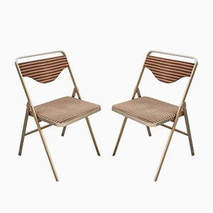 Metal and Fabric Folding Chairs from Formanova, 1960s, Set of 2