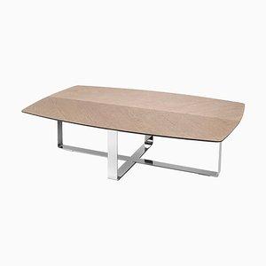 Table Basse avec Base en Fer par Jacobo Ventura pour CA Spanish Handicraft