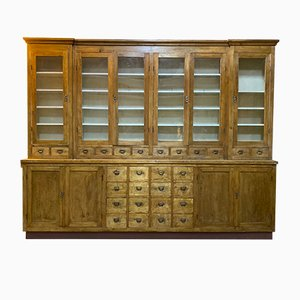 Large Apothecary Display Cabinet, 1920s