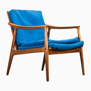 Danish Teak Framed Lounge Chair, 1960s