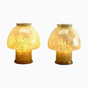Lámparas de mesa vintage de cristal de Murano de Vetri. Juego de 2