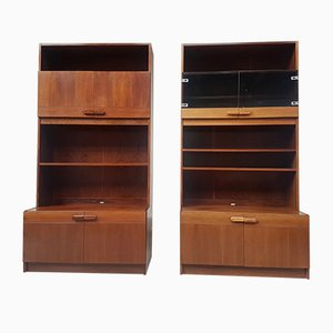 Danish Rosewood Wall Units from Mobelfakta, 1970s, Set of 2
