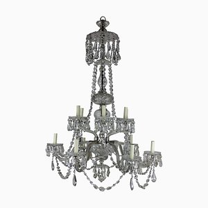 Large Antique Cut Glass Chandelier