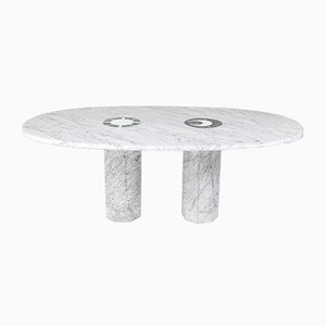 Sun & Moon Marble Dining Table by Adolfo Natalini for Up & Up, 1970s