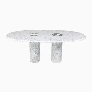 Tavolo da pranzo Sun & Moon in marmo di Adolfo Natalini per Up & Up, anni '70