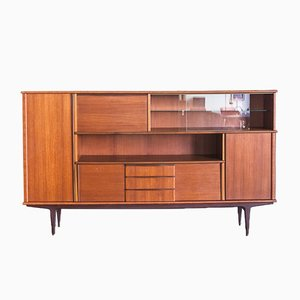 Scandinavian Teak High Sideboard, 1960s
