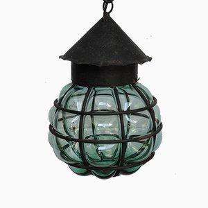 Deckenlampe aus mundgeblasenem Glas, 1950er