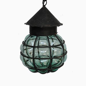 Hand-Blown Glass Ceiling Lamp, 1950s