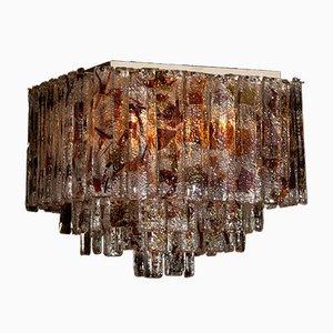 Italienische Deckenlampe aus Muranoglas von Mazzega, 1960er