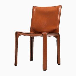 CAB Stühle mit cognacfarbenem Lederbezug von Mario Bellini für Cassina, 1970er, 2er Set