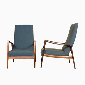 Dänische Mid-Century Sessel mit Gestell aus Teak von Arne Wahl Iversen, 1960er, 2er Set