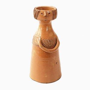 Jarrón de cerámica de Jacques Pouchain para Atelier Dieulefit, años 50