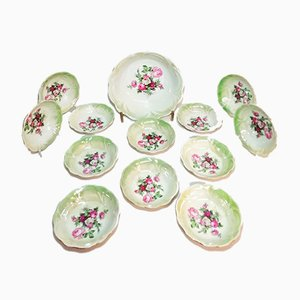 Vintage Porcelain Tableware Set, 1930s, Set of 13