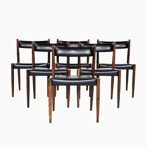 Vintage Danish Rosewood Dining Chairs, 1960s, Set of 6