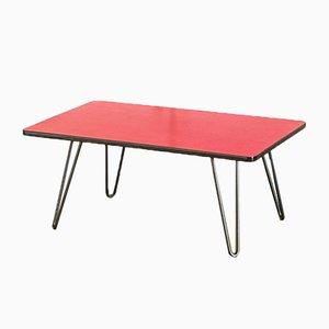 Mesa auxiliar de formica roja, años 60