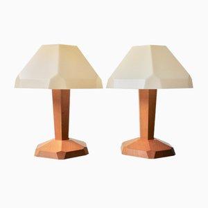 Lámparas de mesa de Rudolf Steiner para Produktion Dörfler Dornach, años 60. Juego de 2