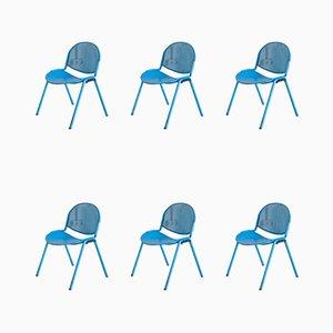 Chaises d'Appoint Modulamm Vintage par Roberto Lucci pour Lamm, Set de 6