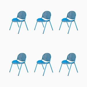 Vintage Modulamm Side Chairs by Roberto Lucci for Lamm, Set of 6