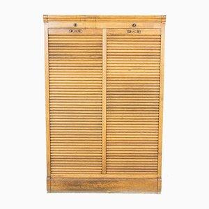 Oak Double Roller Shutter Cabinet, 1920s