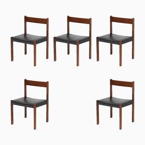 Vintage Esszimmerstühle von Alfred Hendrickx für Belform, 5er Set