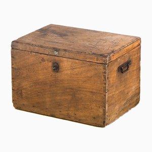 Spanische Kiste aus poliertem Holz, 1960er