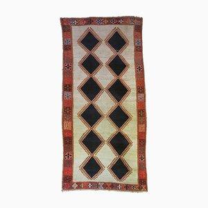 Orientalischer Mid-Century Teppich mit Rautenmuster, 1950er