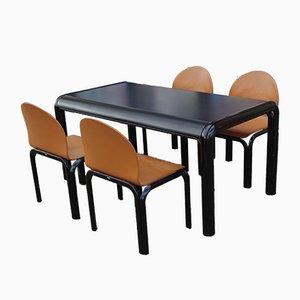 Juego de mesa y sillas de comedor de Gae Aulenti para Knoll Inc./Knoll International, 1988. Juego de 5