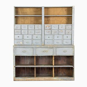 Industrial Hardware Cabinet with 31 Drawers, 1920s